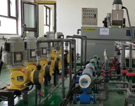 电磁流量计和机械隔膜计量泵